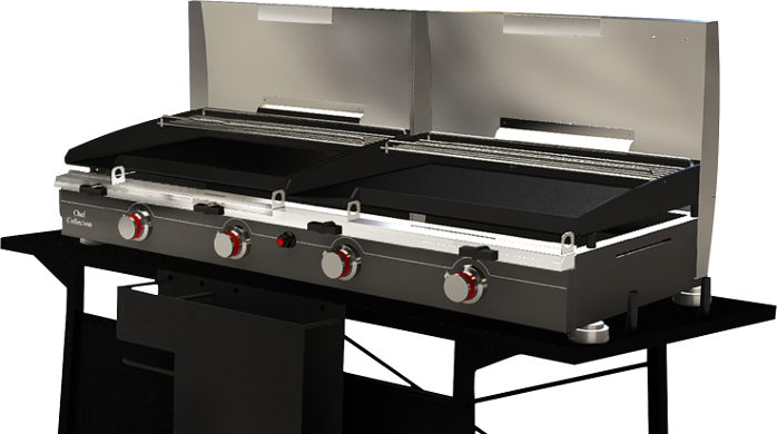 plancha gas,burners,flat,plate,grill,barbecue