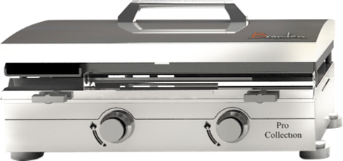 Gas Plancha Flat Plate Grill 1 Burner Black Collection