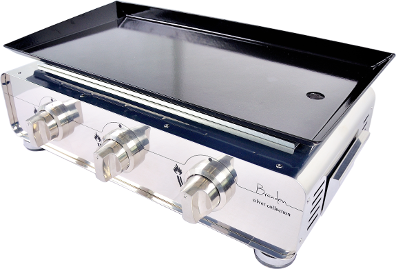 plancha gas,burners,flat,plate,grill,barbecue,stainless steel